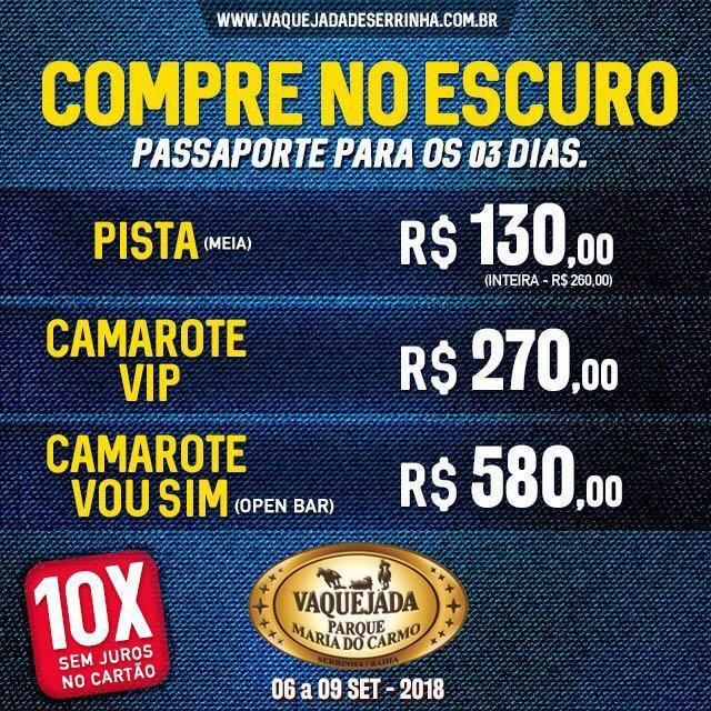 """9a85b3292 Bahia  Começou a venda dos ingressos """"no escuro"""" para Vaquejada de Serrinha  2018"""